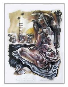 Héctor VELÓZ MARTÍNEZ - Disegno Acquarello - El Espacio Vertical de tu Infinito
