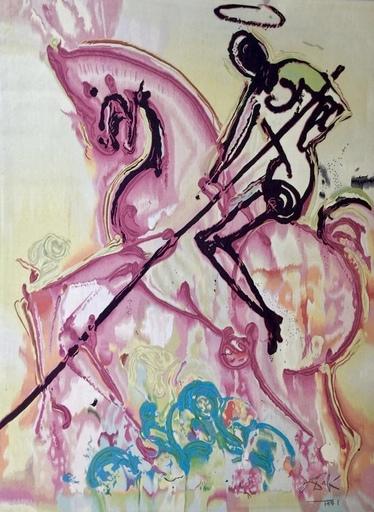 Salvador DALI - Tapestry - São Jorge killing the Dragon