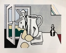 Roy LICHTENSTEIN - Print-Multiple - Still life with windmill