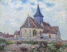 Gustave LOISEAU - Painting - L'église de Porte-Joie dans l'Eure