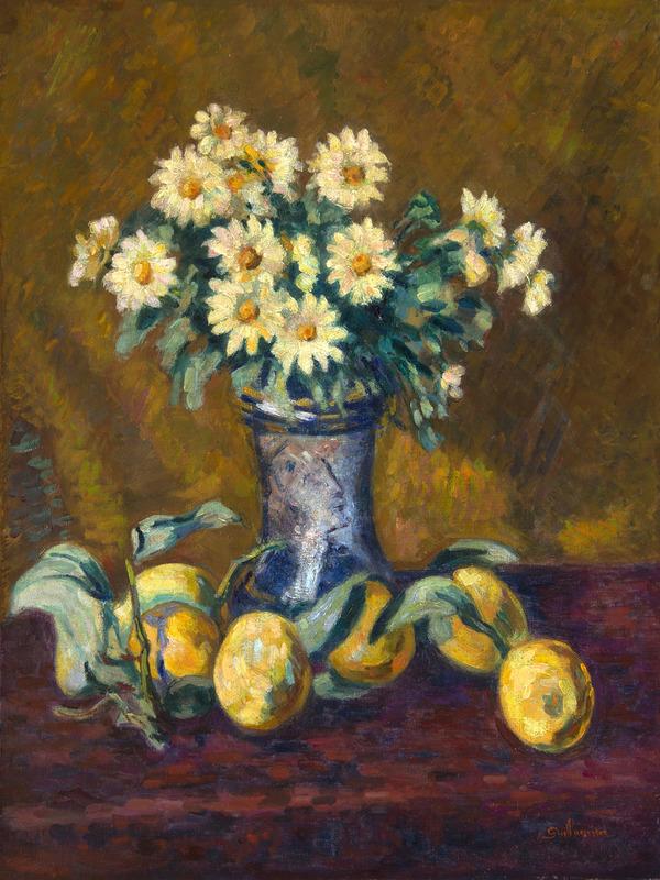 Armand GUILLAUMIN - Painting - Nature morte au vase de fleurs