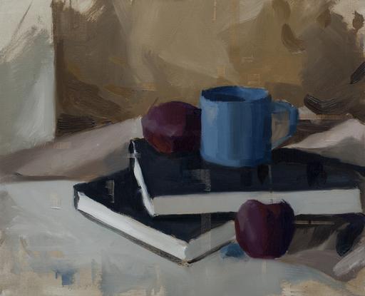 Jon DORAN - Gemälde - Sketchbook and plums