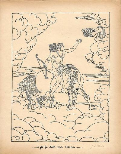 乔治•德•基里科 - 版画 - ... e gli fu data una Corona...,1941
