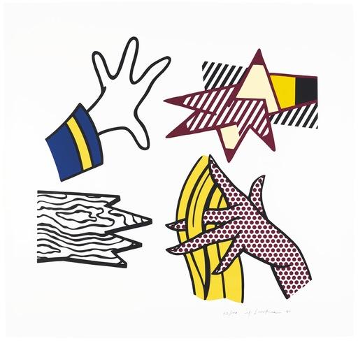 Roy LICHTENSTEIN - Stampa-Multiplo - Study of Hands