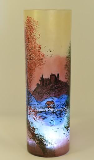 François-Théodore LEGRAS - Grand vase Cylindre