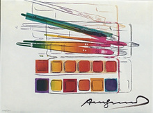 Andy WARHOL - Stampa Multiplo - WATERCOLOR PAINTKIT WITH BRUSHES FS II.288