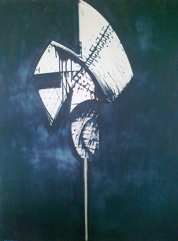 "Antoni ROS BLASCO - Painting - "" Pleureur"""