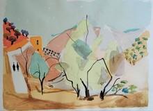 Nahum GUTMAN - Grabado - Zeffat Landscape