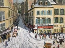 Charles MALLE - Peinture - Le Nazir, rue Tholozé