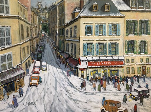 Charles MALLE - Painting - Le Nazir, rue Tholozé