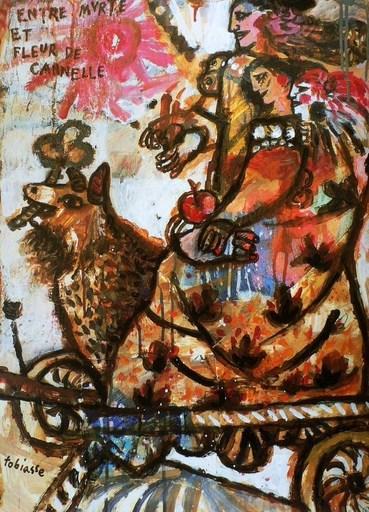 Théo TOBIASSE - Painting - Entre myrte et fleur de cannelle