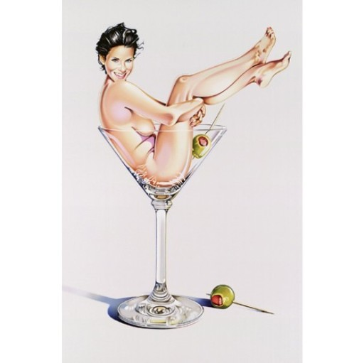 Mel RAMOS - Grabado - Martini Miss