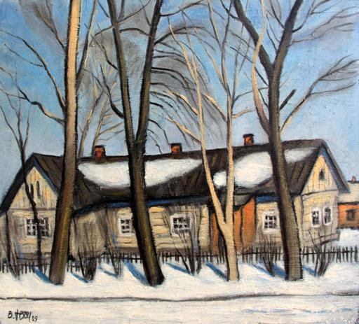 """Valeriy NESTEROV - Painting - """"Vodniki"""" station. Moscow region"""