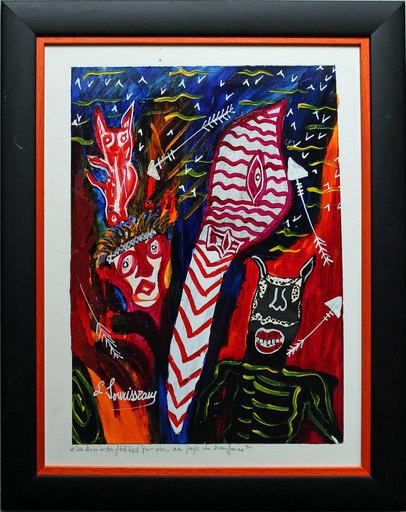 Lionel SOURISSEAU - Painting - Des arcs et des flèches pour aller au pays de l'enfance