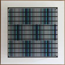 Antonio ASIS - Sculpture-Volume - Vibration bandes blue, turquoise et noir
