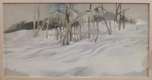Edith KRAMER - Peinture - SHADOWS ON SNOW