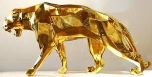 Richard ORLINSKI - Sculpture-Volume - WILD PANTHER GOLD