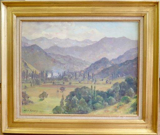 Albert REGAGNON - Painting - La vallée de Castillon en Ariège