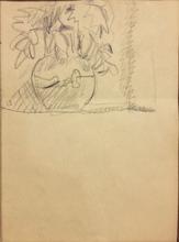 Pierre BONNARD - Dibujo Acuarela - Bouquet de fleurs