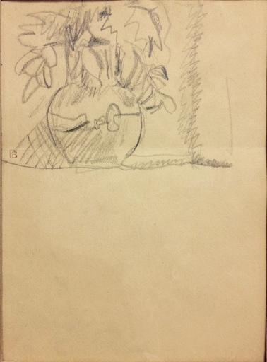 Pierre BONNARD - Drawing-Watercolor - Bouquet de fleurs