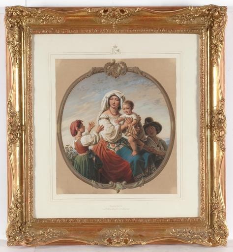 "Theodor Leopold WELLER - Painting - ""Italian Family"" by Theodor Leopold Weller"