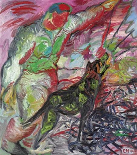 Sandro CHIA - Peinture - Cane e padrone