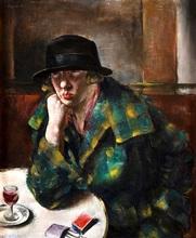Jean FAUTRIER - Pintura - Femme assise dans un café