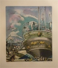 Hermine DAVID - Estampe-Multiple - Le Yacht Mallorca