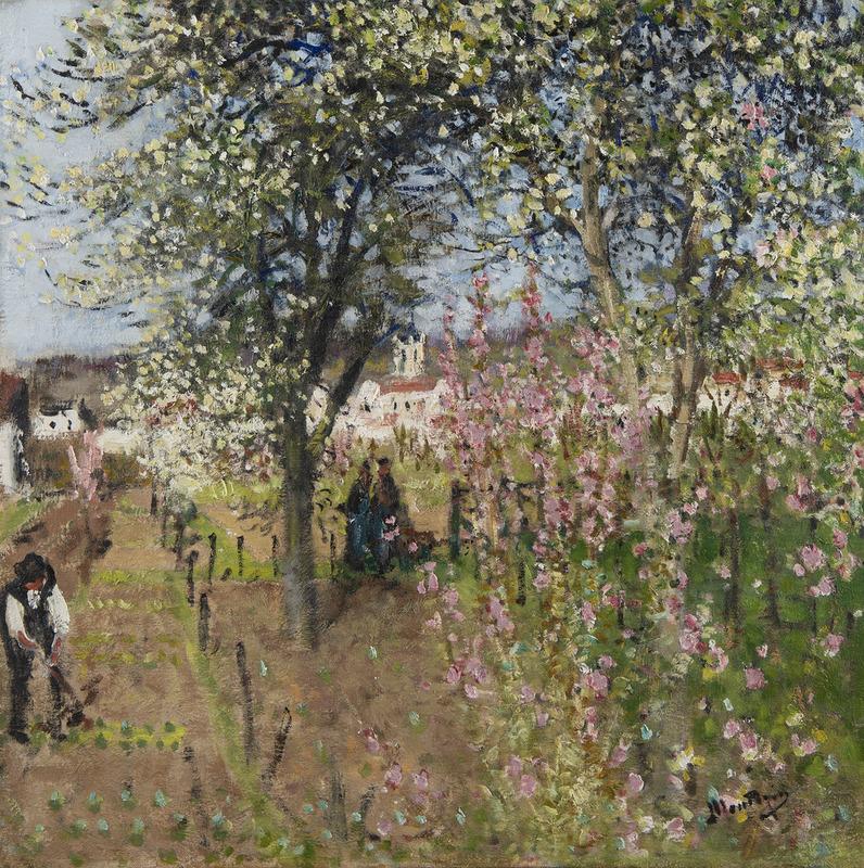 Pierre Eugène MONTEZIN - Peinture - Le Printemps à Moret