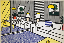Roy LICHTENSTEIN (1923-1997) - Wallpaper with Blue Floor Interior