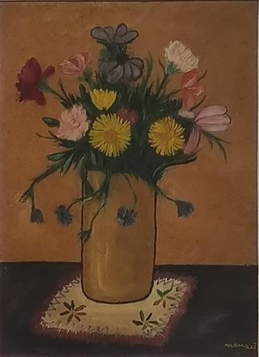 Giacomo MANZU - 绘画 - Vaso con fiori