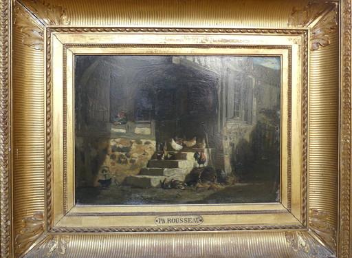 Philippe ROUSSEAU - Painting - la ferme