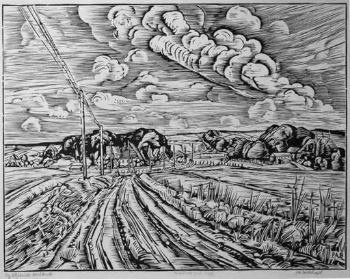 Peter August BÖCKSTIEGEL - Print-Multiple - Westfälische Landschaft
