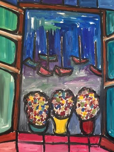 Christian DURIAUD - Pintura - Fenêtre sur la mer