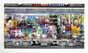 MR BRAINWASH - Estampe-Multiple - Chelsea Express blue