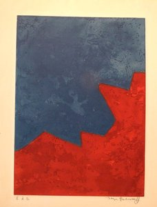 Composition rouge et bleue by | Serge POLIAKOFF | buy art online