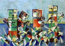 Ibrahim KODRA - Pintura - La grande pesca