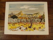 Yves BRAYER - Print-Multiple - Le champ d'oliviers,1973