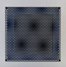 Antonio ASIS - Print-Multiple - Vibration carré noir et bleu