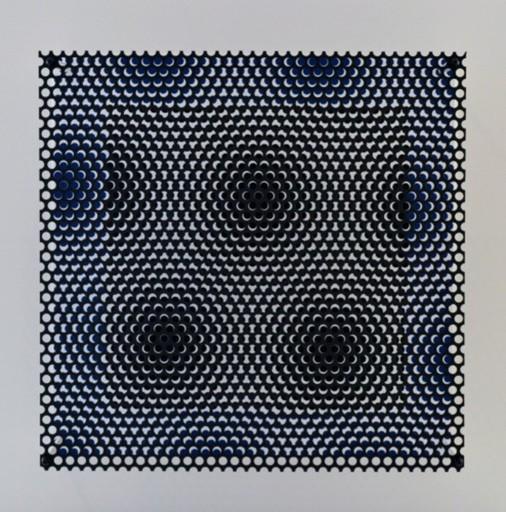 Antonio ASIS - Grabado - Vibration carré noir et bleu