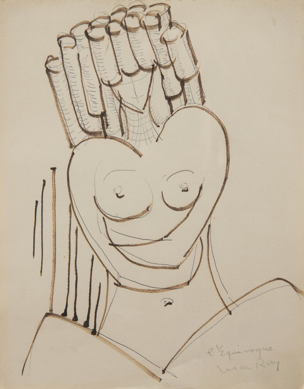 MAN RAY - Drawing-Watercolor - L'équivoque