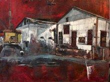 Robert LABOR - Painting - Pierrefonds rouge