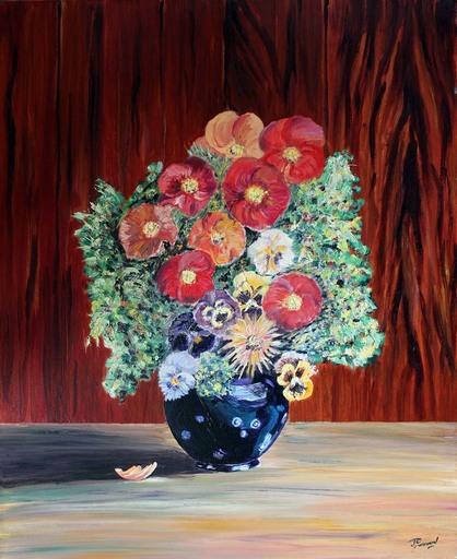 Jean PARRAUD - Painting - Bouquet de Fleur