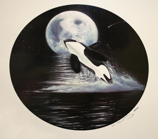 Robert WYLAND - Print-Multiple - ORCA MOON
