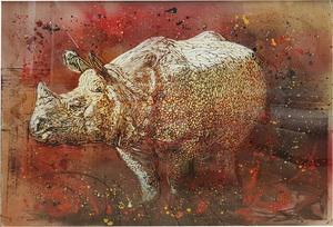 C215 - Zeichnung Aquarell - Le Rhinocéros