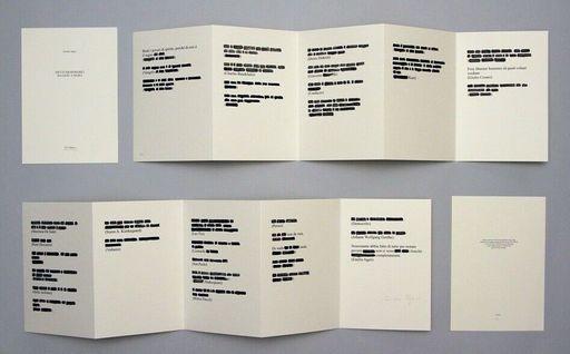 Emilio ISGRO - Druckgrafik-Multiple - Detti memorabili da Gesù a Isgrò