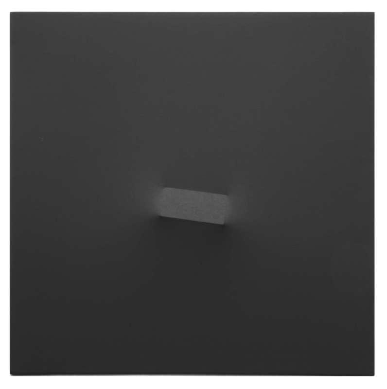 Turi SIMETI - Peinture - Un rettangolo nero