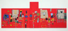 Mimmo PALADINO - Painting - Untitled 2012 (red)