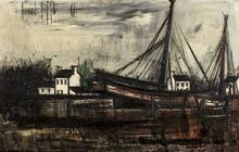 贝纳•毕费 - 绘画 - Les bateaux baie de la Fresnaye