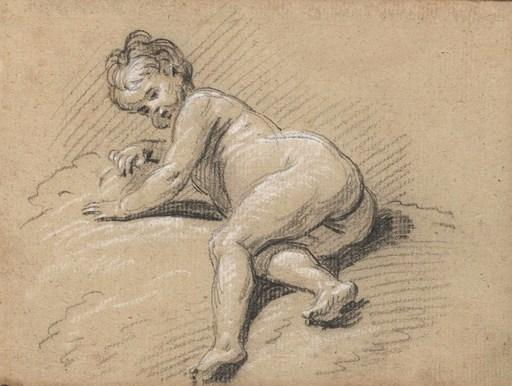 Joseph Ignace François PARROCEL - Drawing-Watercolor - Putto
